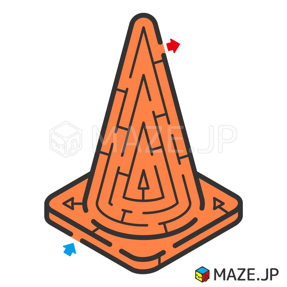 Traffic cone maze