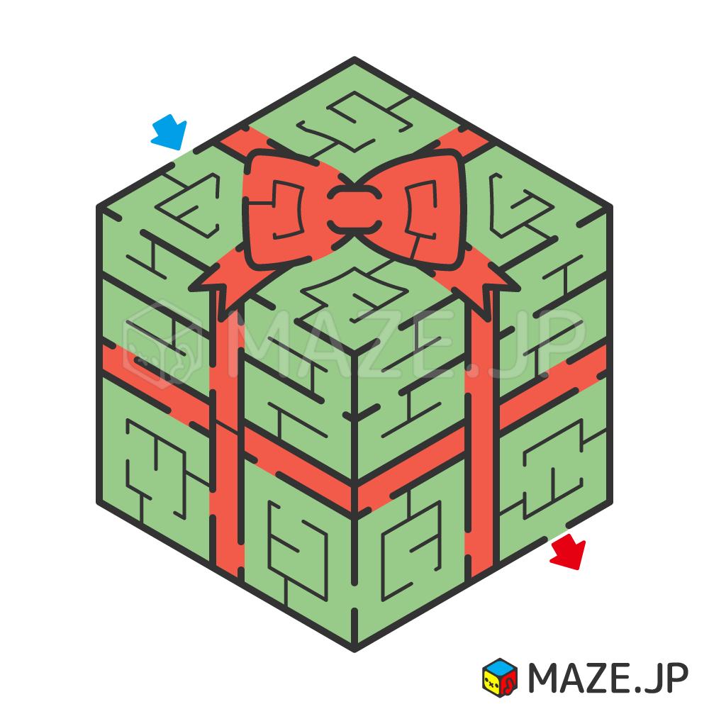 Gift box maze