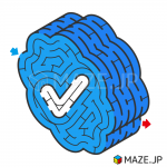 Verified badge maze