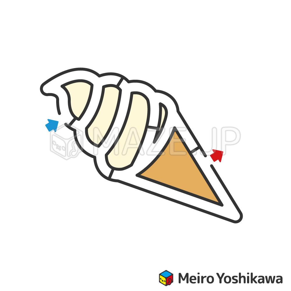 Soft cream maze