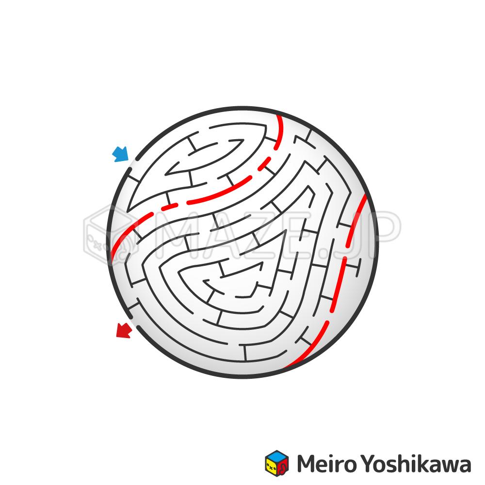 Baseball ball maze