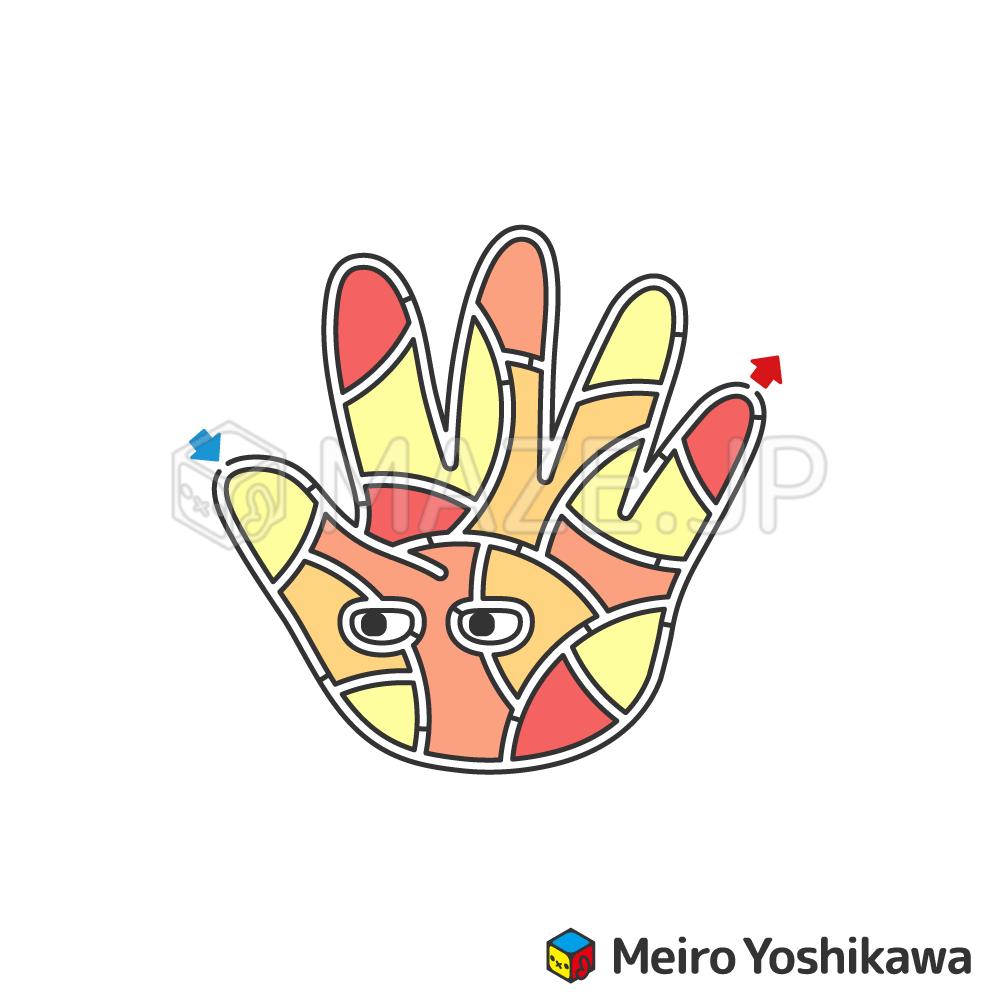 Hand maze
