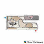 Soba cutting knife maze