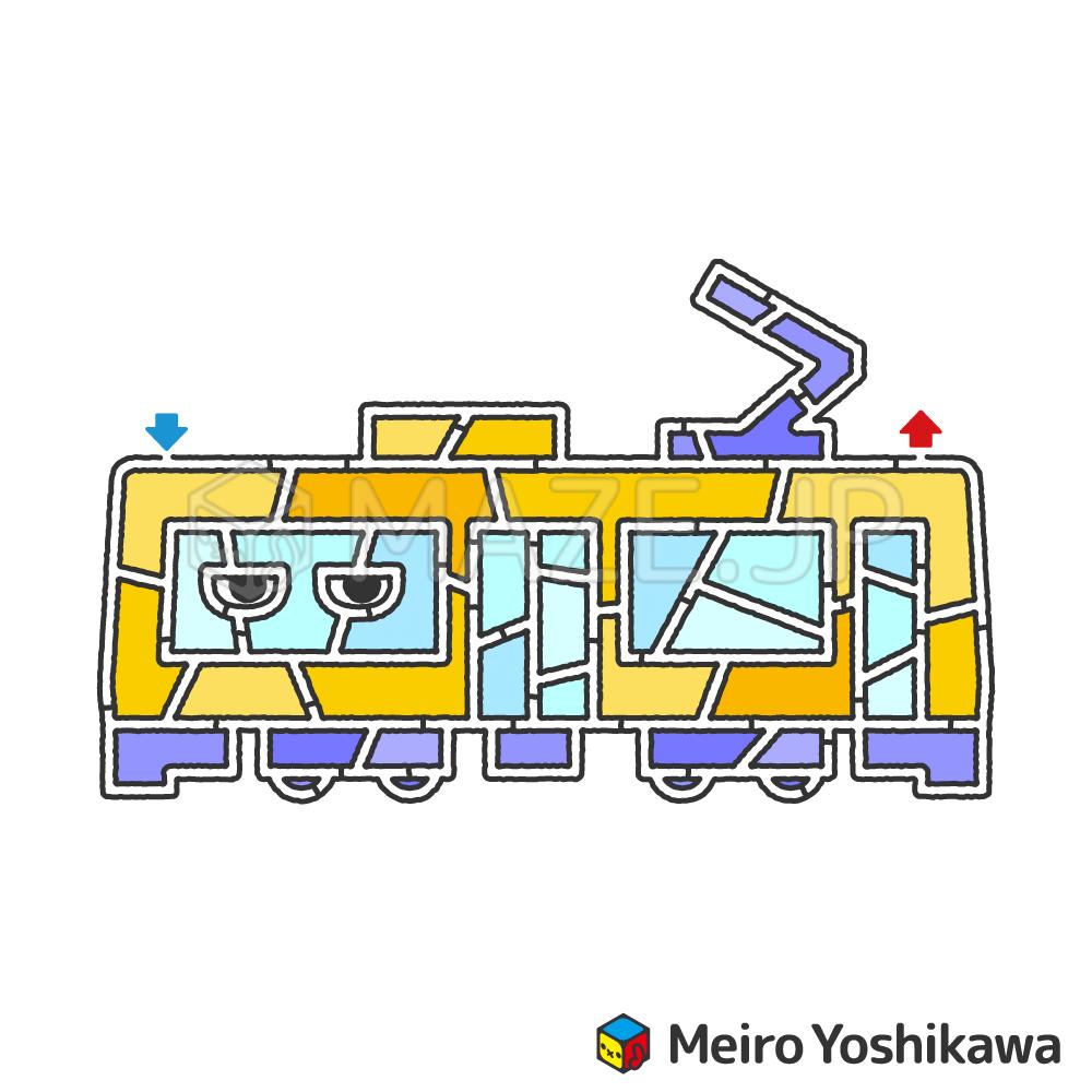 Tram maze